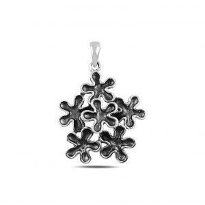Çiçek Gümüş Kolye Ucu, Taşsız Kolye Uçları  925 ayar gümüştür.