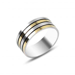 Çizgili Gümüş Alyans, Sade Alyanslar Rodyum Kaplama 925 ayar gümüştür.