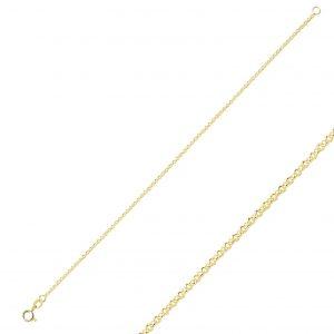 40 Mikron Doç Zincir Gümüş Kadın Bileklik, Zincir Bileklikler Altın Kaplama 925 ayar gümüştür.