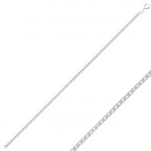 40 Mikron Rombo Zincir Gümüş Kadın Bileklik, Zincir Bileklikler  925 ayar gümüştür.