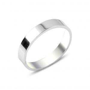 4mm Düz Sade Gümüş Alyans, Sade Alyanslar  925 ayar gümüştür.