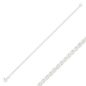 50 Mikron Kaplan Gözü Zincir Gümüş Kadın Bileklik, Zincir Bileklikler  925 ayar gümüştür.