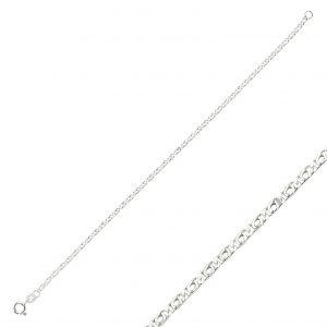 50 Mikron Kuş Gözü Zincir Gümüş Kadın Bileklik, Zincir Bileklikler  925 ayar gümüştür.