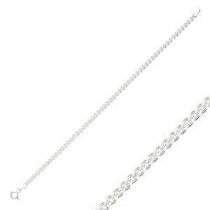 50 Mikron Nonna Zincir Gümüş Kadın Bileklik, Zincir Bileklikler  925 ayar gümüştür.