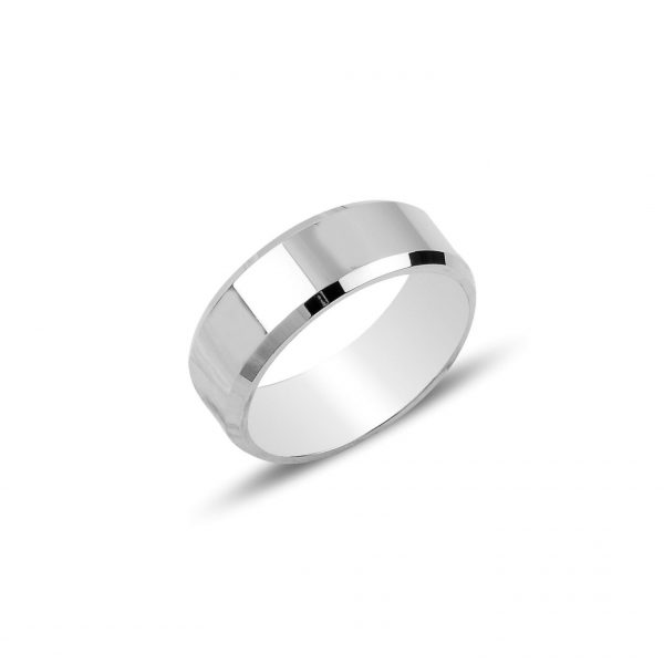 6mm Düz Sade Gümüş Alyans, Sade Alyanslar Rodyum Kaplama 925 ayar gümüştür.