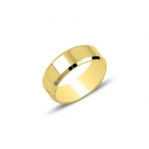 6mm Düz Sade Gümüş Alyans, Taşsız Bayan Yüzükleri Altın Kaplama 925 ayar gümüştür.