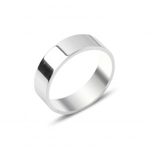6mm Düz Sade Gümüş Alyans, Taşsız Bayan Yüzükleri  925 ayar gümüştür.