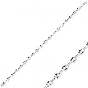 6mm Klasik İçi Boş Gemici Zincir Gümüş Kadın Bileklik, Zincir Bileklikler  925 ayar gümüştür.