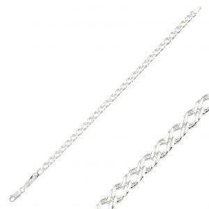 80 Mikron Rombo Zincir Gümüş Kadın Bileklik, Zincir Bileklikler  925 ayar gümüştür.