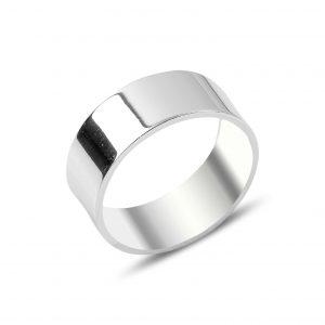 8mm Düz Sade Gümüş Alyans, Sade Alyanslar  925 ayar gümüştür.