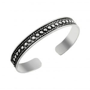 Altı Açık Gümüş Kadın Bilezik, Taşsız Bilezikler  925 ayar gümüştür.