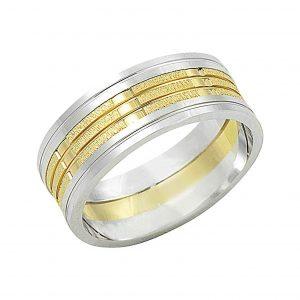 Altın Kaplama Gümüş Alyans, İkili Alyanslar  925 ayar gümüştür.