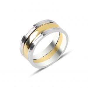 Altın Kaplama Gümüş Alyans, İkili Alyanslar Rodyum Kaplama 925 ayar gümüştür.