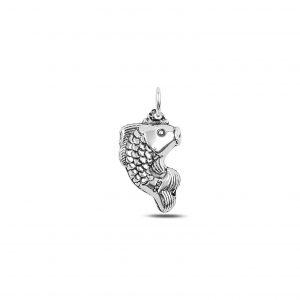 Balık Elektroform Gümüş Kolye Ucu, Taşsız Kolye Uçları  925 ayar gümüştür.
