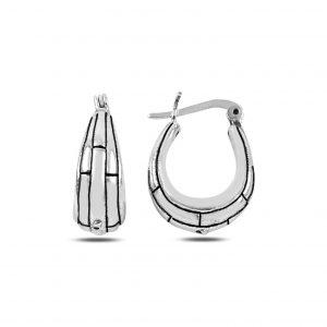 Desenli Çanta Gümüş Küpe, Taşsız Küpeler  925 ayar gümüştür.