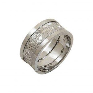 Desenli Gümüş Alyans, İkili Alyanslar  925 ayar gümüştür.