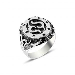 Desenli Gümüş Erkek Yüzük, Taşsız Erkek Yüzükleri  925 ayar gümüştür.