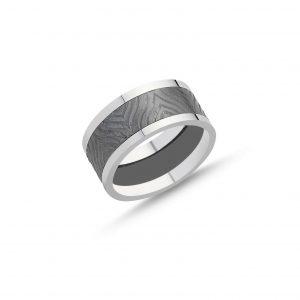 Desenli Taşsız Gümüş Alyans, İkili Alyanslar  925 ayar gümüştür.