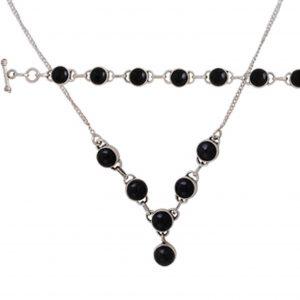 Doğal Taşlı Gümüş Takı Seti, El İşi Doğal Taşlı Setler Doğal Taş 925 ayar gümüştür.