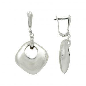 Gümüş Kare Şekilli Küpe, Taşsız Küpeler  925 ayar gümüştür.