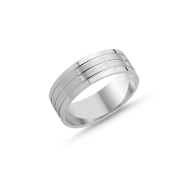 Gümüş Taşsız Çizgili Alyans, Sade Alyanslar  925 ayar gümüştür.
