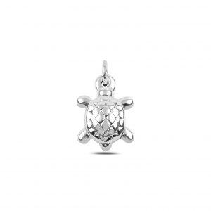 Kaplumbağa Elektroform Gümüş Kolye Ucu, Taşsız Kolye Uçları  925 ayar gümüştür.