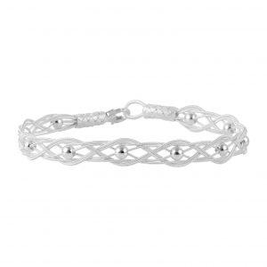 Kazaziye El Örmesi Gümüş Kadın Bileklik, Taşsız Bileklikler  925 ayar gümüştür.