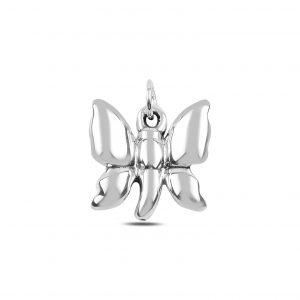 Kelebek Elektroform Gümüş Kolye Ucu, Taşsız Kolye Uçları  925 ayar gümüştür.
