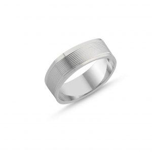 Köşeli Taşsız Gümüş Alyans, Sade Alyanslar  925 ayar gümüştür.