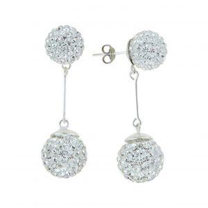 Kristal Taşlı Gümüş Küpe, Zirkon Taşlı Küpeler  925 ayar gümüştür.