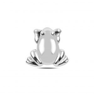 Kurbağa Elektroform Gümüş Kolye Ucu, Taşsız Kolye Uçları  925 ayar gümüştür.