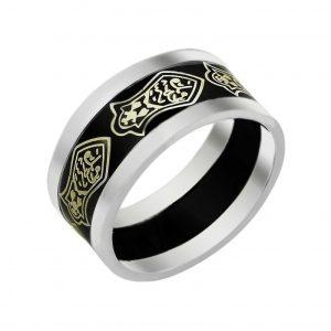 Lazerli Nalın-ı Şerif Desenli Gümüş Alyans, İkili Alyanslar  925 ayar gümüştür.