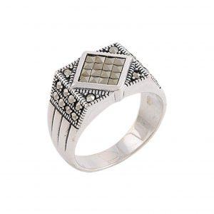 Markazit Taşlı Gümüş Erkek Yüzük, Markazit Taşlı Erkek Yüzükleri  925 ayar gümüştür.