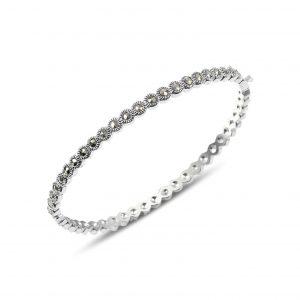 Markazit Taşlı Gümüş Kadın Bilezik, Markazit Taşlı Bilezikler  925 ayar gümüştür.
