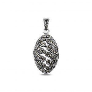Markazit Taşlı Gümüş Kolye Ucu, Zirkon Taşlı Kolye Uçları  925 ayar gümüştür.
