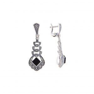 Markazit Taşlı Gümüş Küpe, Markazit Taşlı Küpeler  925 ayar gümüştür.