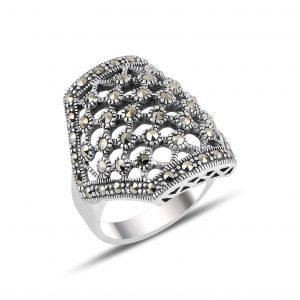 Markazit Taşlı Gümüş Yüzük, Markazit Taşlı Bayan Yüzükleri  925 ayar gümüştür.