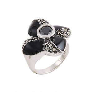 Mineli & Markazit Taşlı Gümüş Yüzük, Markazit Taşlı Bayan Yüzükleri  925 ayar gümüştür.