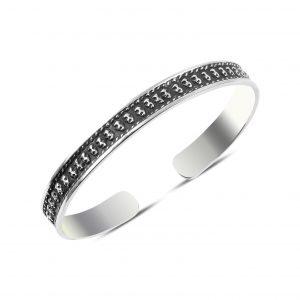 Oksitli Altı Açık Gümüş Kadın Bilezik, Taşsız Bilezikler  925 ayar gümüştür.