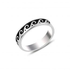 Oksitli Gümüş Alyans, Taşsız Erkek Yüzükleri  925 ayar gümüştür.