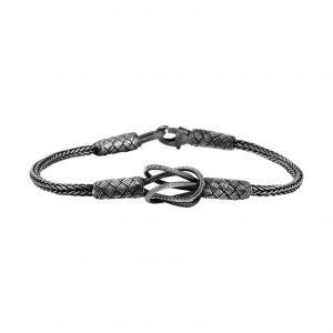 Oksitli Kazaziye El Örmesi Gümüş Kadın Bileklik, Taşsız Bileklikler  925 ayar gümüştür.