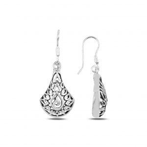 Oksitli Sallantılı Gümüş Küpe, Taşsız Küpeler  925 ayar gümüştür.