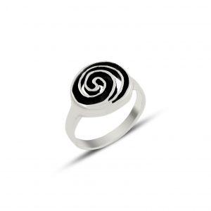Oksitli Spiral Gümüş Yüzük, Taşsız Bayan Yüzükleri  925 ayar gümüştür.