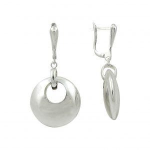 Oval Şekilli Tasşsız Gümüş Küpe, Taşsız Küpeler  925 ayar gümüştür.