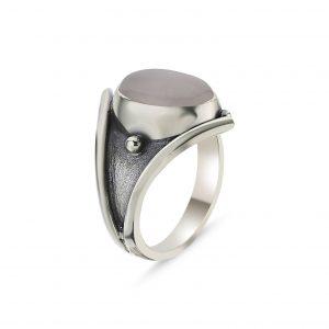 Pembe Kuvars Taşlı El İşi Gümüş Yüzük, Doğal Taşlı Bayan Yüzükleri Doğal Taş 925 ayar gümüştür.