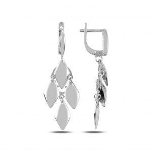 Sallantılı Gümüş Küpe, Taşsız Küpeler  925 ayar gümüştür.