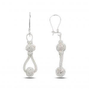 Sallantılı Kazaz Gümüş Küpe, Taşsız Küpeler  925 ayar gümüştür.