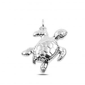 Su Kaplumbağası Elektroform Gümüş Kolye Ucu, Taşsız Kolye Uçları  925 ayar gümüştür.