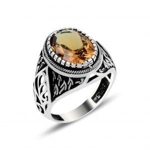 Sultanit Taşlı Gümüş Erkek Yüzüğü, Zirkon Taşlı Erkek Yüzükleri  925 ayar gümüştür.