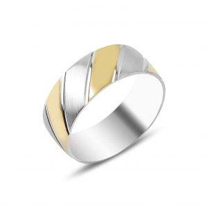 Taşsız Gümüş Alyans, İkili Alyanslar Rodyum Kaplama 925 ayar gümüştür.